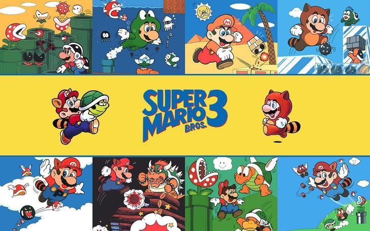 poster of super mario bros 3 game