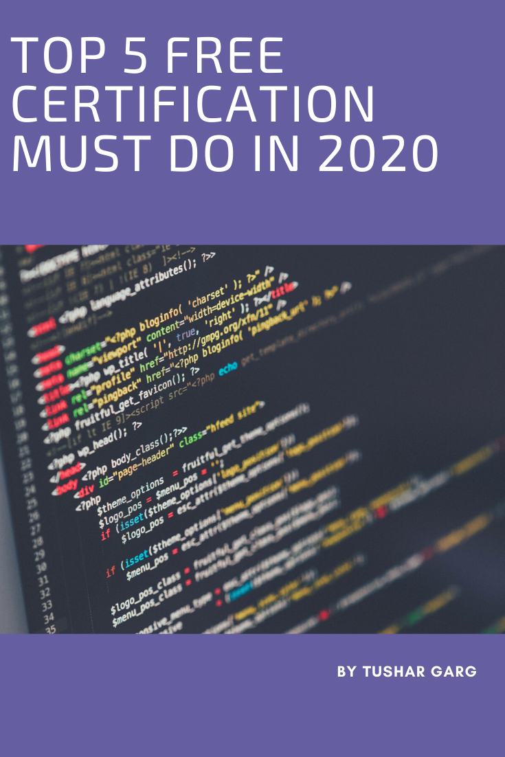 TOP 5 FREE CERTIFICATION MUST DO IN 2020