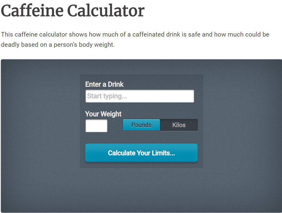 it is caffeine calculator
