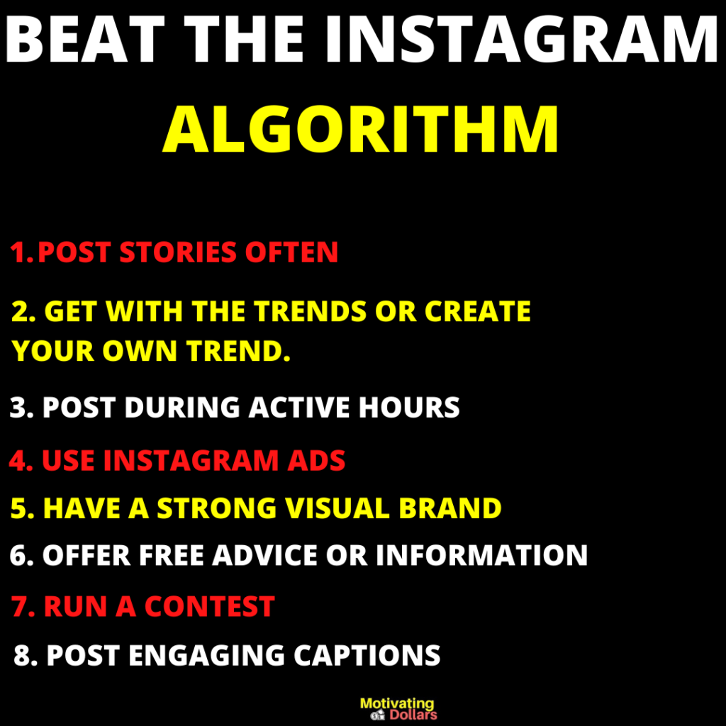 THIS IMAGE IS SHOWING THE INSTAGRAM ALGORITHM