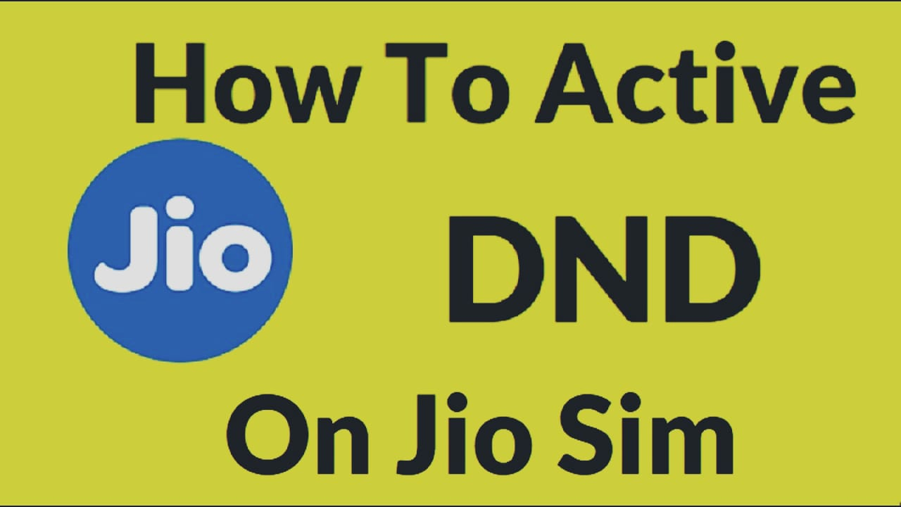 How to activate DND in JIO?