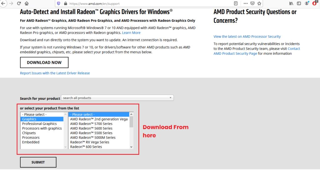 AMD/ATI graphics driver