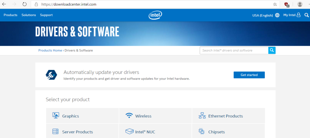 Intel drivers download