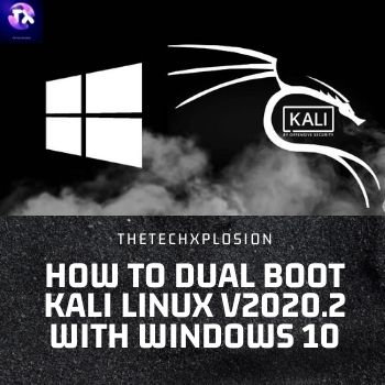 How To Dual Boot Kali Linux v2020.2 With Windows 10