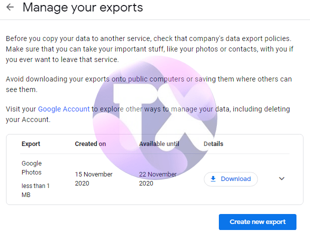 how to export your library of pictures and videos